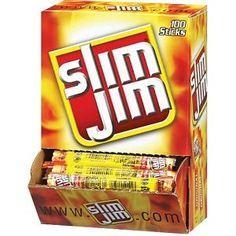 #2: Slim Jim Smoked Snack Sticks, Original, 0.28-Ounce Sticks (Pack of 100)
