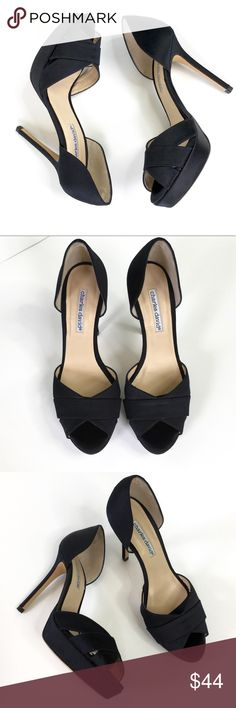 Charles David Black Stiletto Pumps Charles David Black Stiletto Peep Toe Pumps Size 9 Excellent pre-owned condition  Made in Spain   ▫️Heels approximately 4.5 inches tall  ▶️I am a size nine and these run true to size for me.   💜My home is smoke and pet free Charles David Shoes Heels