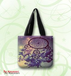 "Dream Catcher Custom Tote Bag (one side)  A great every day bag to take you through your day!  Product Details Size: 12.2"" x 11"" x 3.3"" This 100% heavyweight 10 oz cotton canvas tote bag carries all o"