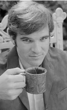 Steve Martin is having a cup of tea Coffee Art, My Coffee, Coffee Time, Tea Time, Drink Coffee, Steve Martin, People Drinking Coffee, Drinking Tea, Coffee Tasting