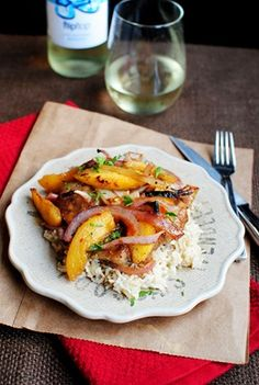 Nearly Summer Supper: Gingery Chicken with Peaches