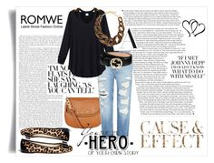 """""""You are the HERO of your own Story"""" by daisymayyy ❤ liked on Polyvore featuring Envi, MICHAEL Michael Kors, Genetic Denim, Gucci and Kenneth Jay Lane"""