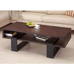 Morgan Modern Style Dark Walnut Coffee Table