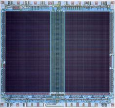 "Intel Corporation | diagram of erasable programmable read-only memory chip (EPROM) | computer-generated plot on paper | 42-1/4"" x 42-3/8"" 