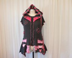 Hey, I found this really awesome Etsy listing at https://www.etsy.com/listing/218070479/plus-size-upcycled-clothing-womens-vest