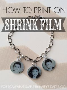 DIY Photo Charms using   Printed Shrinkidink  images !  Printed with a    bubble jet printer onto  craft shrink plastic❗️
