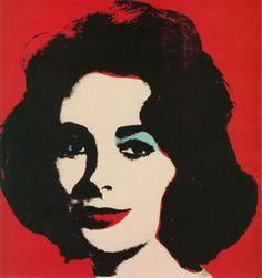 Andy Warhol - Elizabeth Taylor Red Liz