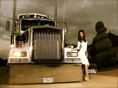 A big Kenworth with model.