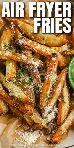Air Fryer Recipes Easy, Easy Appetizer Recipes, Appetizers, Honey Recipes, Vegetable Recipes, Garlic Parmesan Fries, Air Fryer French Fries, Homemade French Fries, Air Fried Food