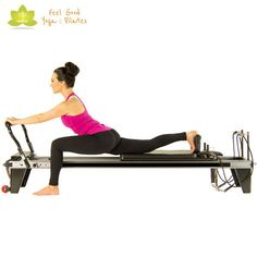 standing lunges pilates reformer exercise variation