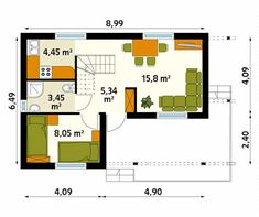 Walls by Biuro Projektów MTM Styl - domywstylu. The Plan, How To Plan, Small Wooden House, Wooden Textures, Cottage Style Homes, Square Meter, Gate Design, Cabins In The Woods, Ideas Para