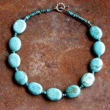 Turquoise River Stone Necklace