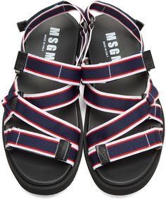 95538c1330b5be MSGM - Tricolor Multi Strap Wrap Sandals Msgm
