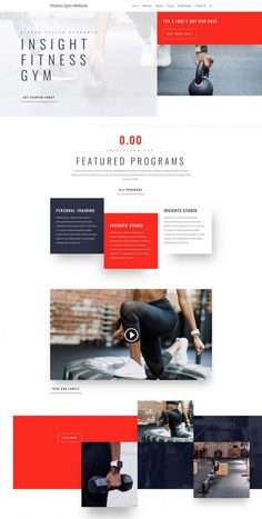 Use these layouts if you want to get your gym online in a mobile-friendly format that displays beautifully on desktop, laptop, tablet & mobile. Website Design Layout, Web Layout, Layout Design, Grid Design, Best Web Design, Page Design, Ui Design Inspiration, Design Ideas, Sports Graphics