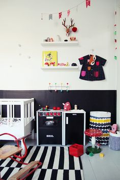 | ROOM FOR A GIRL - My Second Hand LifeKid's room in black and white