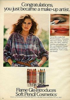 I used the very soft brown eye liner as a lip liner.  It was my favorite. 1978