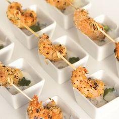 Pinchos de camarones Tapas, Entrees, Finger Foods, Easy Recipes, Wedding, Decorations, Yurts