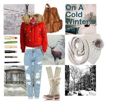 """""""On A Cold Winter's Day"""" by alnyd ❤ liked on Polyvore featuring Topshop, Weekend Max Mara, Sofiacashmere, Chico's, Aéropostale, SOREL, L'Oréal Paris, Givenchy, Rimmel and Wander Beauty"""