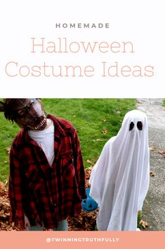 Looking for a way to save money this Halloween? Make your own Halloween costumes with part 3 of my Halloween Costumes with homemade costumes ideas. Make Yourself Halloween Costumes, Zombie Halloween Costumes, Twin Halloween, Pregnant Halloween Costumes, Cool Costumes, Vintage Costumes, Halloween Ideas, Costume Ideas, Halloween Couples