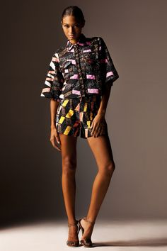 Ethnic Fusion --- Jewel by Lisa, S/S12 - Nigerian Designer. #Sporty #Urban #AfricanFashion #Print