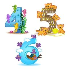 Set of numbers with number of animals from 1 to 3 Vector Image Set von Zahlen mit der Anzahl der Tiere von 1 bis 3 Vector Image … Numbers For Kids, Math Numbers, Learning Numbers, Fairy Tale Activities, Preschool Activities, Preschool Curriculum, Cross Stitch For Kids, Alphabet For Kids, Beginning Of School