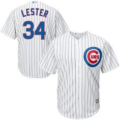 90b210928 Jon Lester Chicago Cubs Majestic Cool Base Player Jersey - White
