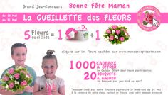 C'est le lancement de notre grand jeu concours pour la fête des mères ! Jusqu'au 31 mai, rendez-vous sur le site de Mon Concept Santé pour gagner des cadeaux et des bouquets de fleurs. Pour ce faire, vous devrez trouver et cueillir 5 fleurs dans le site .. Bonne chance à tous!  >> http://www.monconceptsante.com/