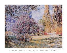 Le Parc Monceau Paris Prints by Claude Monet at AllPosters.com