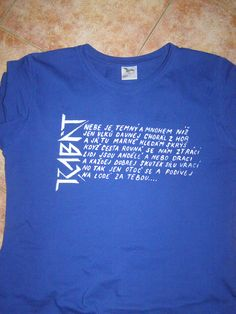 tričko s textem