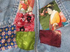 Kimono Patched jeans by nameoftherose on Etsy