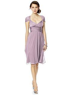 Twist Wrap Dress w/ Chiffon Overskirt: Short http://www.dessy.com/accessories/twist-dress-chiffon-overskirt-short/