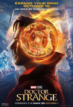 Continuing the onslaught of Doctor Strange publicity, Marvel Studios has  released four more posters for the upcoming superhero film (following the  three they dropped yesterday). First up, there's an IMAX poster that  literally delves into the mind of the title character:  I'm not quite sure what to think about that design. I like that they're at  least trying to do something interesting with it, but I'm not convinced  they pulled it off. It might be just a bit too literal.  In any case…
