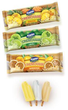 Cremousse Ice Cream on Behance Ice Cream Packaging, Fruit Packaging, Food Packaging Design, Cool Packaging, Brand Packaging, Candy Board, Icecream Bar, Dessert Drinks, Menu Design