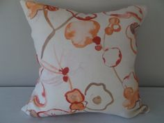 This Orange Floral Abstract Watercolor Decorative Pillow Cover features Beautiful Orange, Red and Taupe Abstract Orchid Flowers on Vines. This Bright and Cheerful Botanical Linen Throw Pillow will add Life to any Room in your Home. Floral Pillows, Colorful Pillows, Orchid Flowers, Orchids, Decorative Pillow Covers, Orange Red, Abstract Watercolor, Vines, Taupe