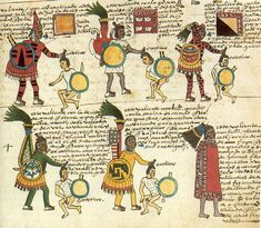 American Drawing - Aztec Codex Mendoza, 1540 by Granger Ancient Aztecs, Ancient Civilizations, Ancient Egypt, Military Costumes, Jack In The Box, Mesoamerican, Inca, African American History, Warfare
