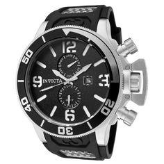Invicta 0756 Men's Corduba GMT Black Dial Rubber Strap Swiss Dive Watch