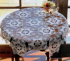 Crochet Art: Lace Tablecloth - Crochet Lace Tablecloth Pattern - No Pattern