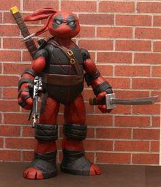 Teenage Mutant Ninja Turtle Deadpool Custom Action Figure!