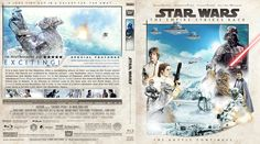 Star Wars Episode V: The Empire Strikes Back Blu-ray Custom Cover Blu Ray Collection, Blu Ray Movies, Mark Hamill, The Empire Strikes Back, Star Wars Episodes, Cover Design, Inventions, Battle, Stars