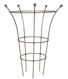 Ruddings Wood Heavy Duty Natural Rust Herbaceous Plant Support Ring x Garden Rusted Metal Peony Flower Grow Through Cage Frame Plant Supports, Rusted Metal, Peony Flower, Growing Flowers, Cage, Peonies, Outdoors, Ceiling Lights, Sculpture