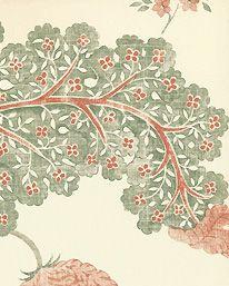 Tapet Palampore Green Red från Sanderson Print Wallpaper, Wood Blocks, Designer Wallpaper, Mystic, The Originals, Green, Prints, Flowers, Pattern