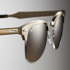 Ray-Ban Clubmaster Aluminum Bronze Sunglasses
