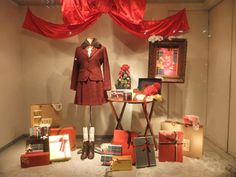 Love the heavy use of reds and browns in this display.