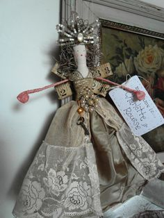 handmade Christmas fairy doll