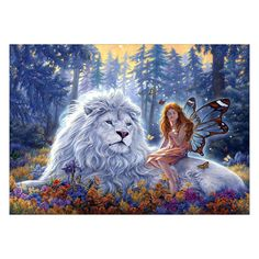 £3.02 GBP - 5D Diy Full Drill Lion Diamond Painting Embroidery Cross Stitch Kit Home Decor #ebay #Home & Garden