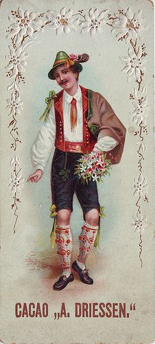 CACAO DRIESSEN MAN IN AUSTRIAN COSTUME HOLDING BUNCH OF FLOWERS IN LEFT HAND | Flickr - Photo Sharing!