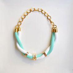 Baby blue string star bracelet