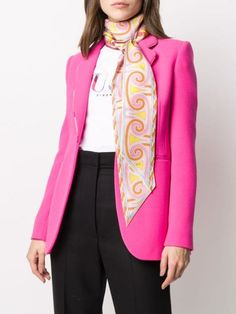 Emilio Pucci Sirens Song-print Scarf - Farfetch Emilio Pucci, Sirens, Accessories Shop, Blazer, Songs, Sweaters, Jackets, Shopping, Women