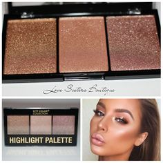 City color highlight Pallet features three stunning highlight shades in one convenient palette. With a silky formulation, one swipe will get you hooked! Great for every day glow and combining shades to create a custom highlight. This product is one of our most popular. The pigment is incredibly amazing you will be stunned. This is one of our favorites and we know it will be yours too.   #citycolor #citycolorhighlight #citycolorpallets #citycolormakeup #citycolorhighlighttrio #popularmakeup