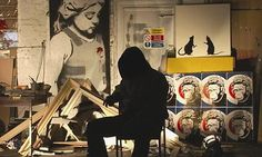 Street artist Banksy lurks in the shadow in this documentary spoof on the art world.